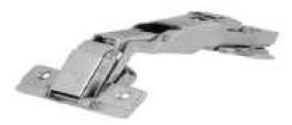 WIDE ANGLE SOFT CLOSE HINGE 165 Degree OPENING 48/6 MM STEEL NICKEL PLATED (CONSIST OF 2 HINGES+2 MOUNTING PLATES+ 8 SS SCREWS
