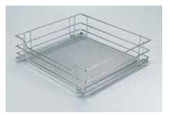VEGETABLE BASKET PULL OUT FOR CABINET WIDTH 600MM PREMEA SILVER GREY