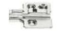 MOUNTING PLATE FOR PIE CUT CORNER HINGE