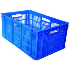 Plastic Crate 500x325x200MM  Blue