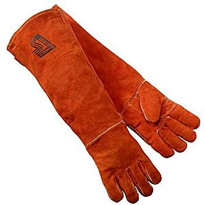 "Leather Brown 18"" Hand Gloves"